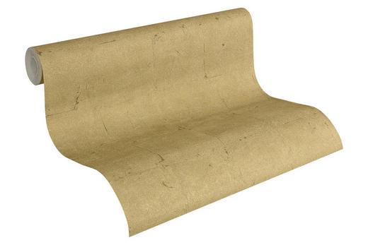 VLIESTAPETE 10,05 - Goldfarben, Basics, Textil (53/1005cm)