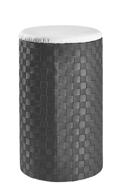 WÄSCHETONNE - Schwarz/Weiß, Basics, Kunststoff (35,5/59cm)