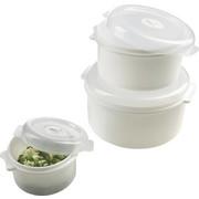 Mikrowellendose  0,5 + 1,65 + 2,75 l - Weiß, Konventionell, Kunststoff - Plast 1