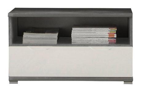 KLUPA ZA PREDSOBLJE - Srebrna/Siva, Dizajnerski, Pločasti materijal (78/44/36cm) - Xora