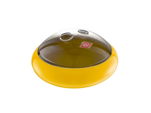 AUFBEWAHRUNGSBOX - Transparent/Gelb, Basics, Kunststoff/Metall (25/25/12cm) - Wesco