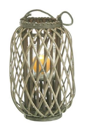 LJUSLYKTA - grå/naturfärgad, Lifestyle, trä (26/62cm)