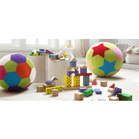 SPIELBALL Multicolor - Multicolor, Basics, Kunststoff/Textil (23cm) - MY BABY LOU