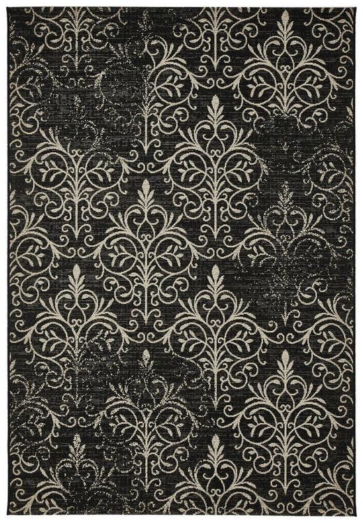 FLACHWEBETEPPICH  160/230 cm  Sandfarben, Schwarz - Sandfarben/Schwarz, Trend, Textil (160/230cm) - Novel