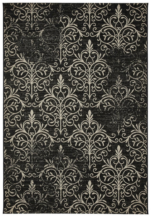 FLACHWEBETEPPICH  160/230 cm  Sandfarben, Schwarz - Sandfarben/Schwarz, Trend, Textil (160/230cm)