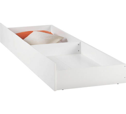 BETTKASTEN 198,6/23/63,5 cm Weiß  - Weiß, Design, Kunststoff (198,6/23/63,5cm) - Carryhome