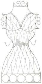 SCHMUCKHALTER - Weiß, Basics, Metall (30/58/8cm) - AMBIA HOME