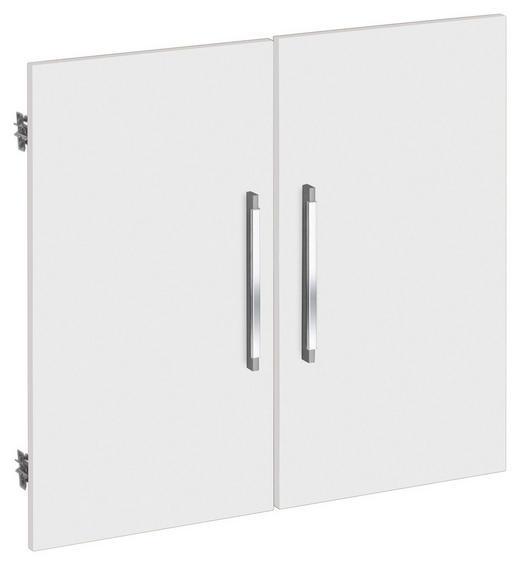 TÜR Weiß - Silberfarben/Weiß, Design, Kunststoff (75.6/67.4cm)