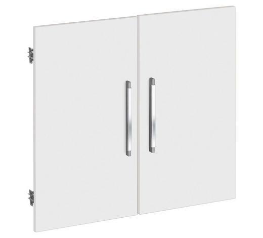 TÜR - Silberfarben/Weiß, KONVENTIONELL, Holzwerkstoff/Kunststoff (75.6/67.4cm)