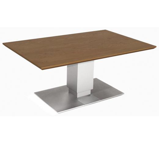COUCHTISCH in Holz, Metall, Holzwerkstoff 110/70/49,5-68,5 cm - Edelstahlfarben/Eichefarben, Design, Holz/Holzwerkstoff (110/70/49,5-68,5cm)