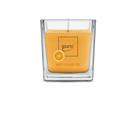KERZE IM GLAS - Orange, Basics, Glas (7/7/6,3cm) - Ipuro