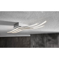 LED-DECKENLEUCHTE - Chromfarben, Design, Kunststoff/Metall (60/15,5/6,5cm) - Novel