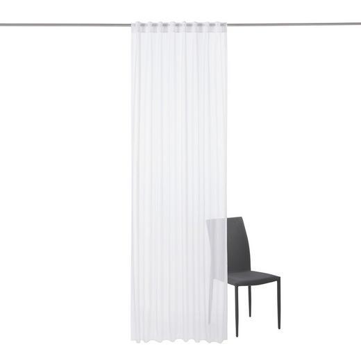 FERTIGVORHANG  transparent   135/245 cm - Weiß, Basics, Textil (135/245cm) - ESPOSA