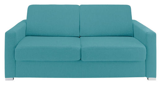 SCHLAFSOFA Blau - Blau/Chromfarben, KONVENTIONELL, Textil/Metall (188/86/97cm) - NOVEL