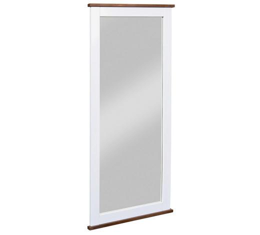 SPIEGEL Kiefer Braun, Weiß  - Braun/Weiß, LIFESTYLE, Glas/Holz (64/145/3,5cm) - Carryhome