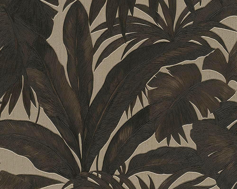 VLIESTAPETE 10,05 m - Schwarz/Grau, Basics, Textil (1005/70cm)