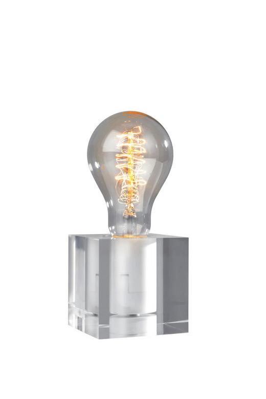 LED-TISCHLEUCHTE - Transparent, LIFESTYLE, Kunststoff/Metall (8/8cm)