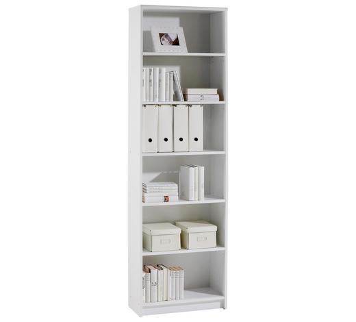 REGAL Weiß  - Weiß, Design, Holzwerkstoff (60/202/28cm) - Carryhome
