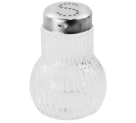 SALZSTREUER - Klar/Chromfarben, KONVENTIONELL, Glas/Metall - Fackelmann