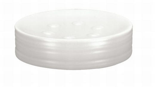 POSUDA ZA SAPUN - bijela, Konvencionalno, keramika (11,6/2,5cm) - Kleine Wolke