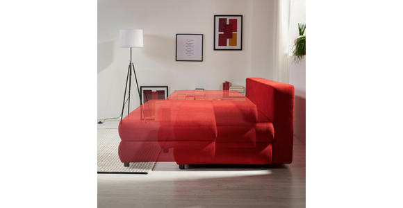 SCHLAFSOFA in Textil Rosa  - Schwarz/Rosa, Design, Kunststoff/Textil (208/73-90/102cm) - Hom`in