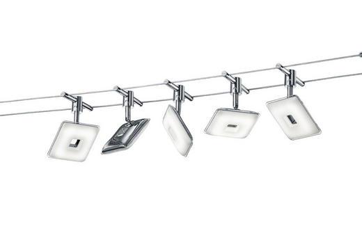 SEILSYSTEM - Chromfarben/Weiß, Design, Kunststoff/Metall (500/15/13,5cm)
