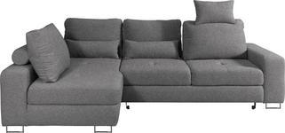 WOHNLANDSCHAFT in Textil Braun, Grau - Braun/Grau, Design, Textil/Metall (188/260cm) - Hom`in