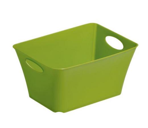 BOX Kunststoff Grün - Grün, Basics, Kunststoff (18/13,4/9cm)
