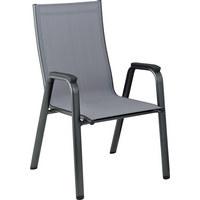 STAPELSESSEL - Anthrazit/Grau, Design, Textil/Metall (71/61/104cm) - Kettler HKS