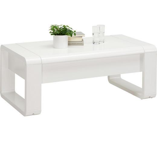KONFERENČNÍ STOLEK, bílá - bílá, Design, kov/kompozitní dřevo (115/60/45(71)cm) - Xora
