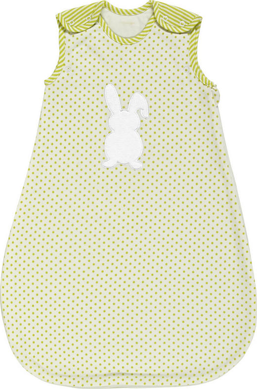 BABYSCHLAFSACK - Limette/Weiß, Basics, Textil (68/74//null) - My Baby Lou