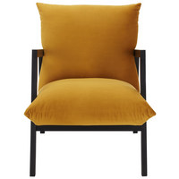 KŘESLO - barvy wenge/žlutá, Design, dřevo/textil (63/76/80cm) - Carryhome