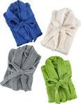 BADEMANTEL S-XL - Blau/Weiß, Basics, Textil (S-XL) - Esposa
