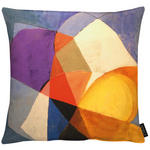 KISSENHÜLLE Blau, Creme, Gelb, Grau, Lila, Multicolor, Orange, Schwarz  - Blau/Gelb, Design, Textil (46x46cm) - Ambiente