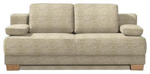SCHLAFSOFA in Textil Beige  - Eichefarben/Beige, KONVENTIONELL, Holz/Textil (200/95/101cm) - Venda
