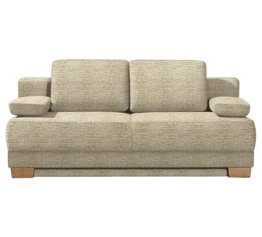 SCHLAFSOFA Beige  - Eichefarben/Beige, KONVENTIONELL, Holz/Textil (200/95/101cm) - Venda