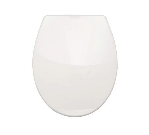 WC-SITZ - Weiß, Basics, Kunststoff (37,2/5/44,5cm) - Sadena