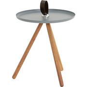 BEISTELLTISCH in Grau, Nussbaumfarben - Nussbaumfarben/Grau, Design, Holz/Metall (40/45cm) - Rolf Benz