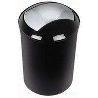 Abfalleimer 5 l - Schwarz, Basics, Kunststoff (19/30cm) - Spirella