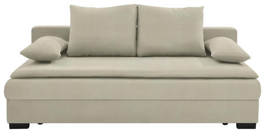 SCHLAFSOFA in Textil Naturfarben - Schwarz/Naturfarben, KONVENTIONELL, Kunststoff/Textil (207/74-94/90cm) - Venda