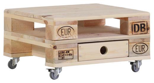 COUCHTISCH massiv quadratisch Naturfarben - Naturfarben, Design, Holz/Metall (60/32/60cm) - Carryhome