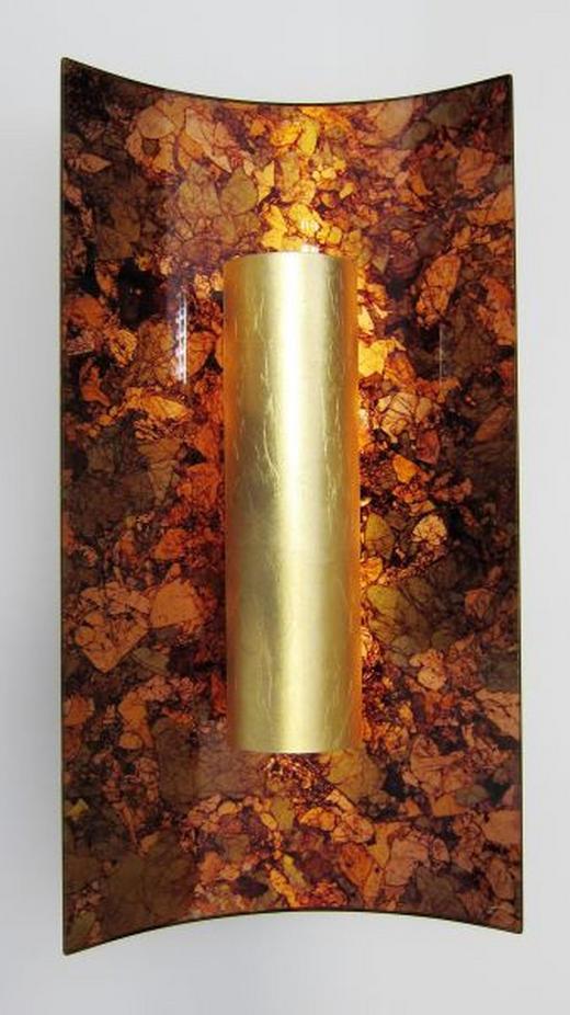 WANDLEUCHTE - Goldfarben, Basics, Glas/Metall (45/23/8cm)