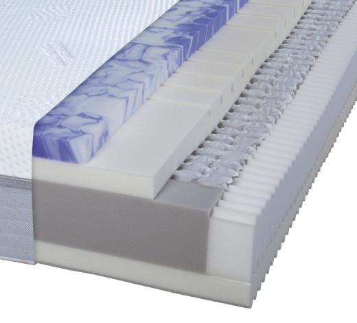 TASCHENFEDERKERNMATRATZE 100/220 cm - Weiß, Basics, Textil (100/220cm) - Dieter Knoll