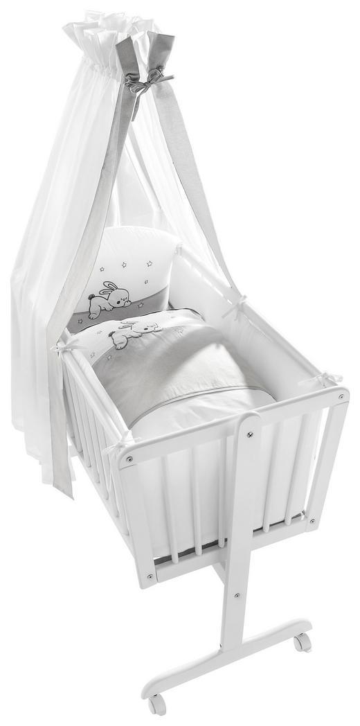 SCHAUKELWIEGE FUNNY BUNNY - Weiß, Basics, Holz/Textil (160/90/45cm) - My Baby Lou