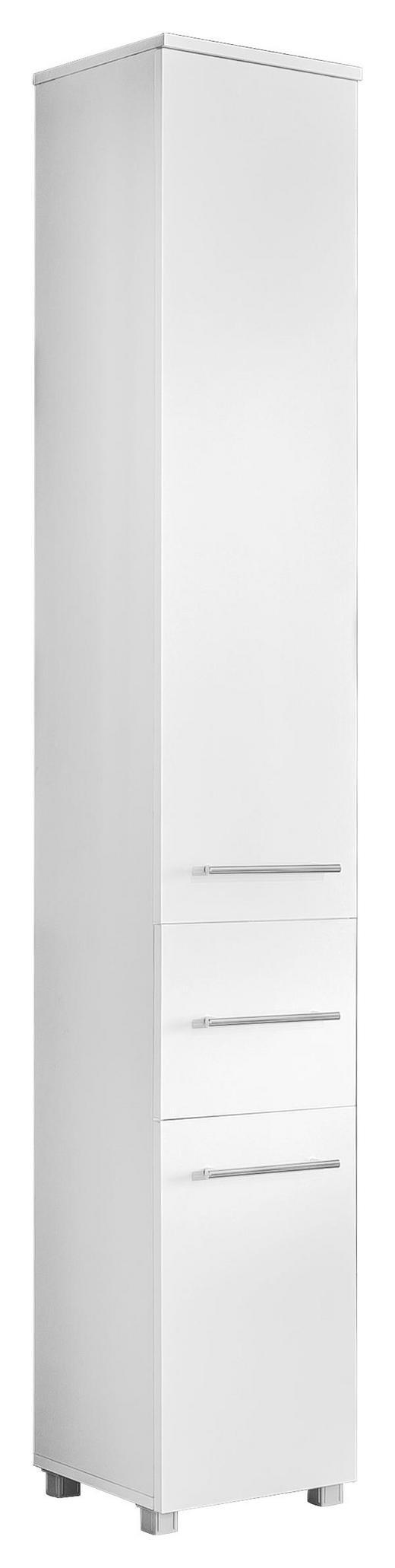 HOCHSCHRANK Weiß - Chromfarben/Silberfarben, Design, Holzwerkstoff/Metall (30/188/31,3cm) - Xora