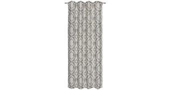 ZAVESA Z OBROČKI ELLI - sivo rjava, Design, tekstil (135/245cm) - Esposa