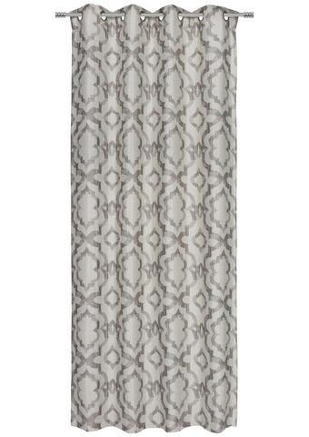 ZAVESA Z OBROČKI ELLI  neprosojno  135/245 cm   - sivo rjava, Design, tekstil (135/245cm) - Esposa