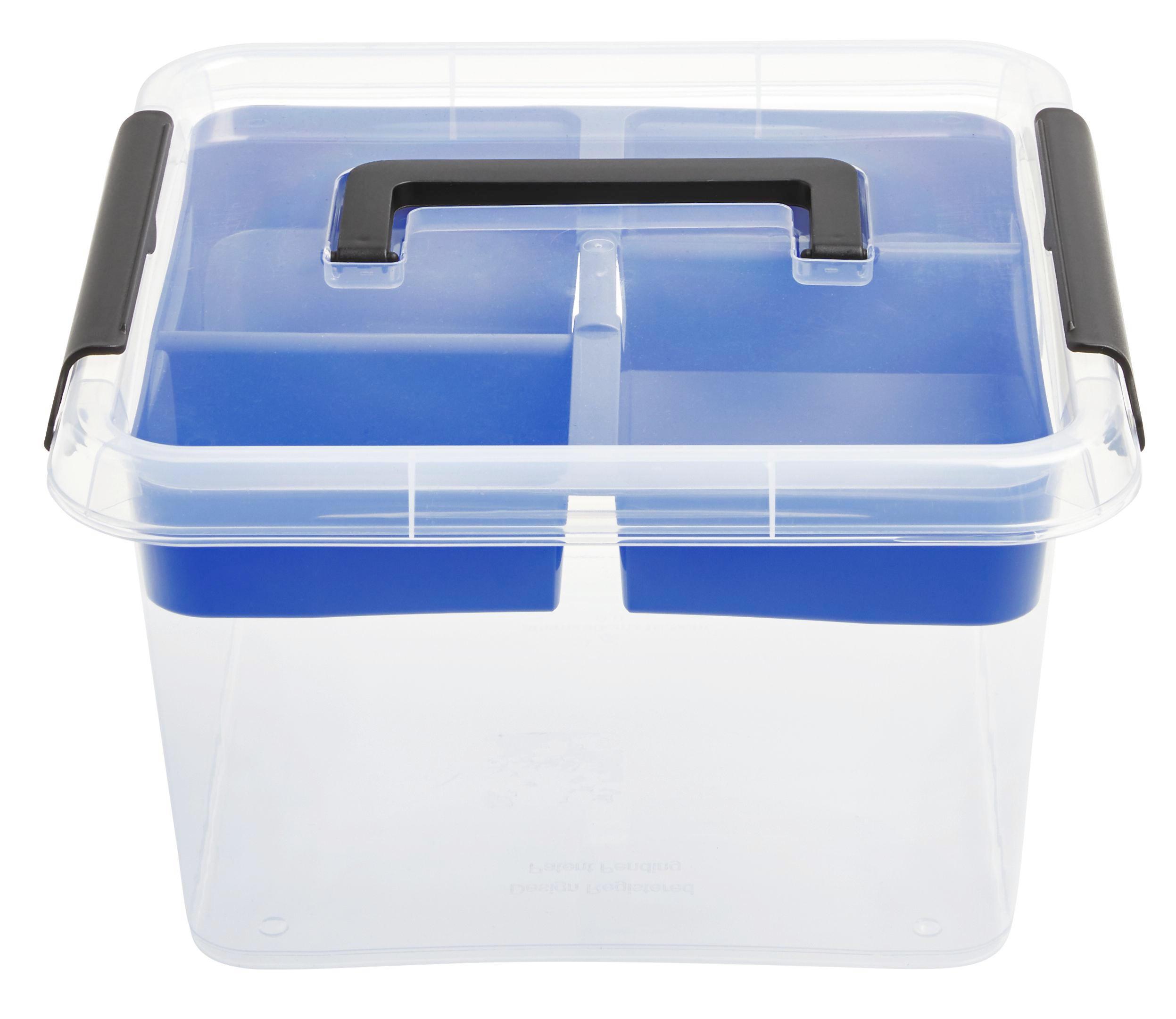 BOX S VÍKEM - průhledná, umělá hmota (9l)