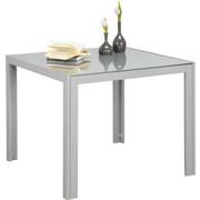 GARTENTISCH Metall, Glas Grau, Silberfarben - Silberfarben/Grau, Design, Glas/Metall (90 90 72cm) - Xora