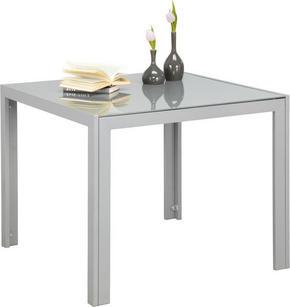 TRÄDGÅRDSBORD - silver/grå, Design, metall/glas (90/90/72cm) - Xora